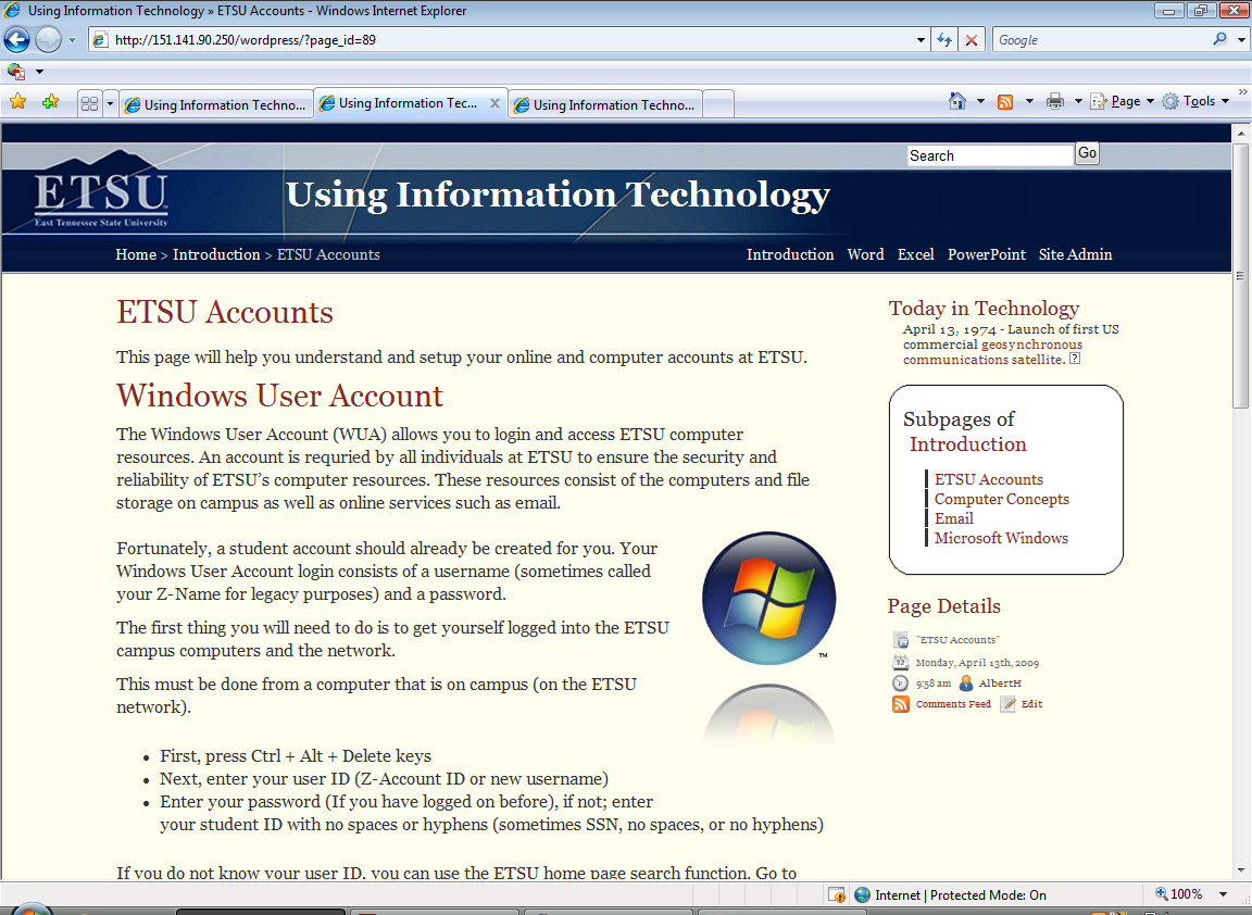 ETSU Using Information Technology - WordPress eBook